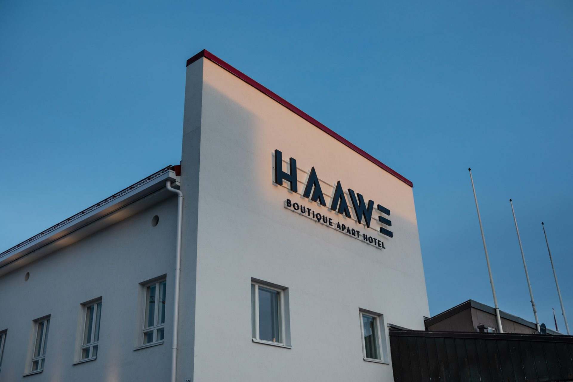 The recognisable faux façade of Haawe