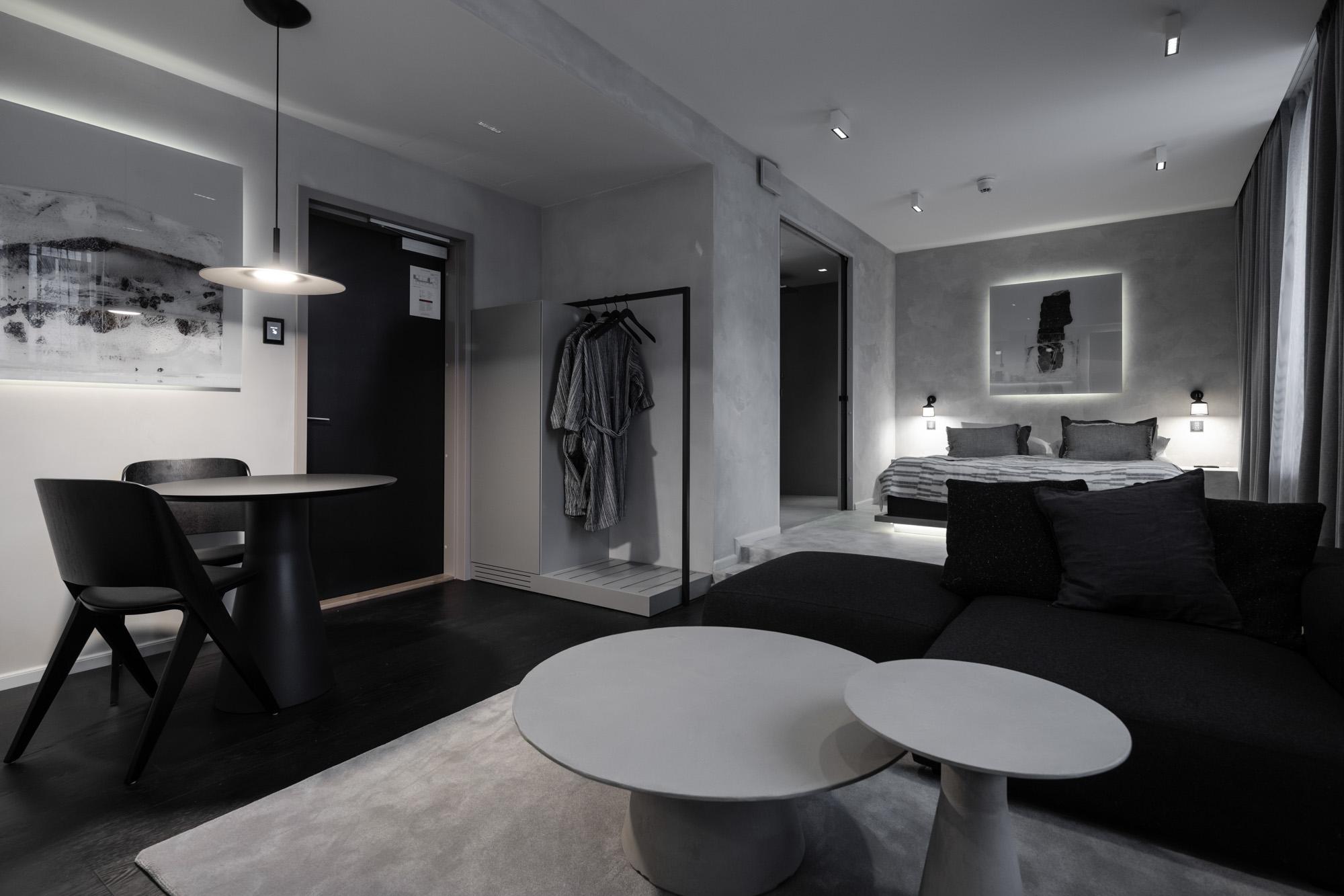 Rakka-huone on omiaan pohjoismaisen designin ystäville.