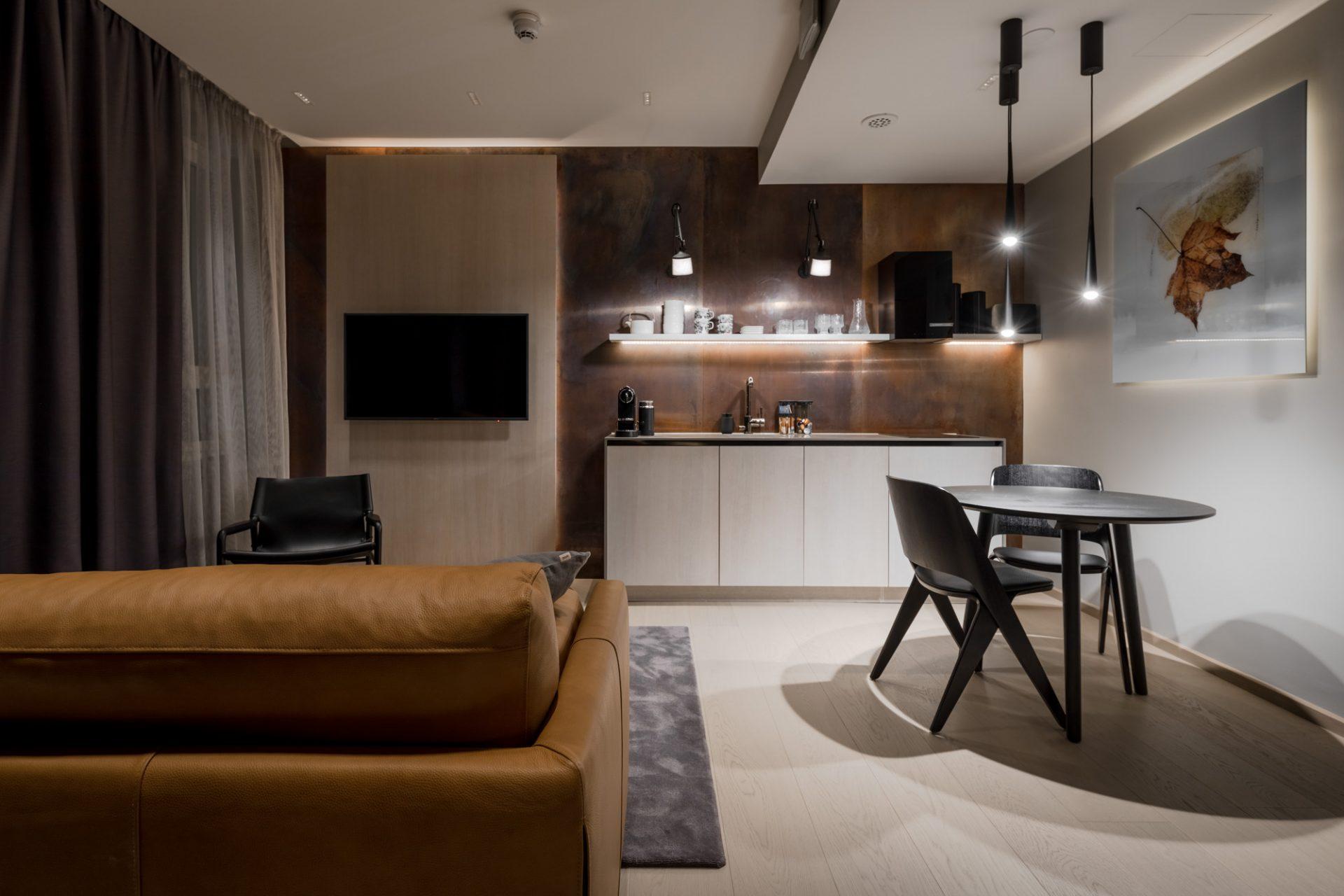 Ruska-huone koostuu Lapin ruskan kauniista väreistä.