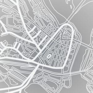 Alvar Aallon suunnittelema poronsarviasemakaava